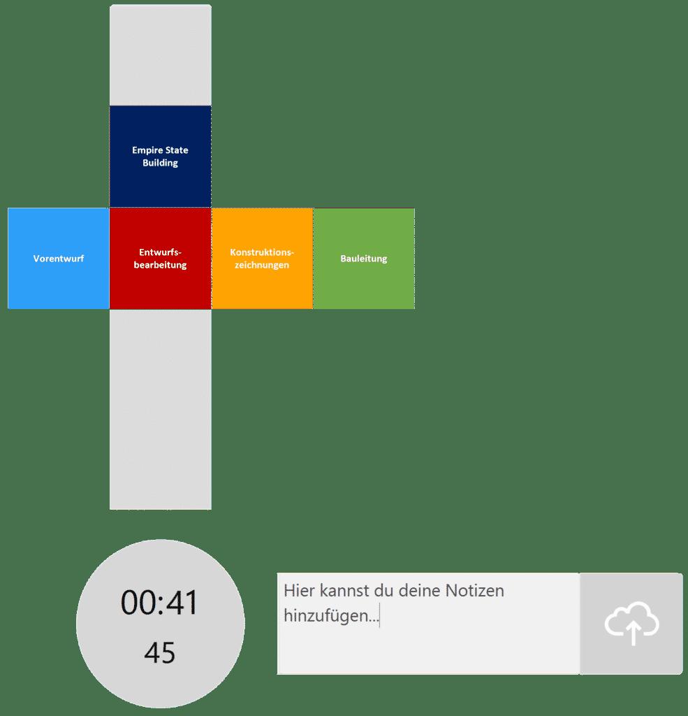 timeBuzzer Desktop App - Ebenen für Architekt Beispiel