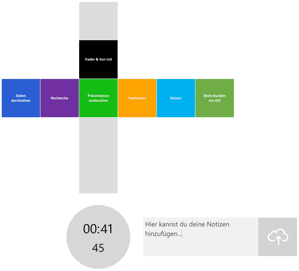 timeBuzzer Desktop App - Ebenen für Berater Beispiel