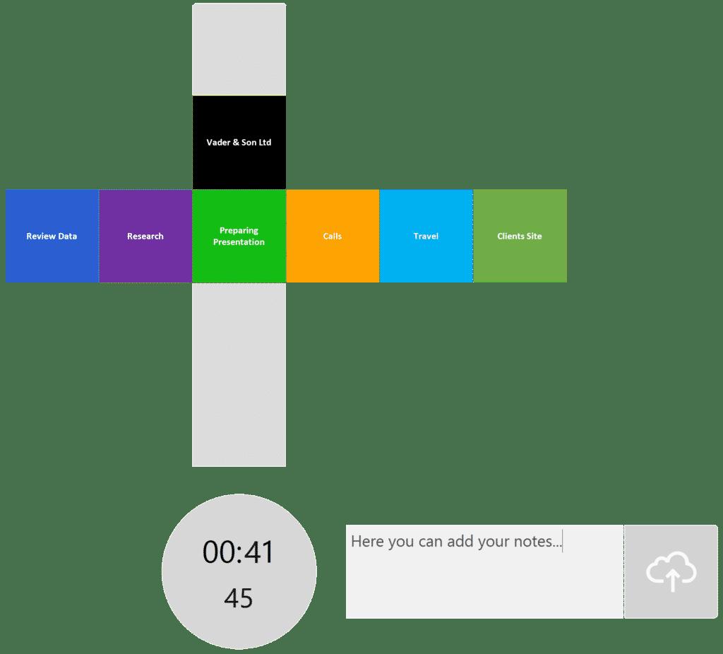 timeBuzzer desktop app - layer example for consultants