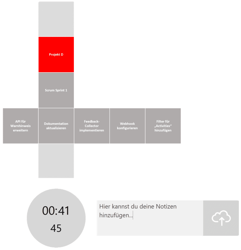 timeBuzzer Desktop App - Ebenen für Entwickler Beispiel