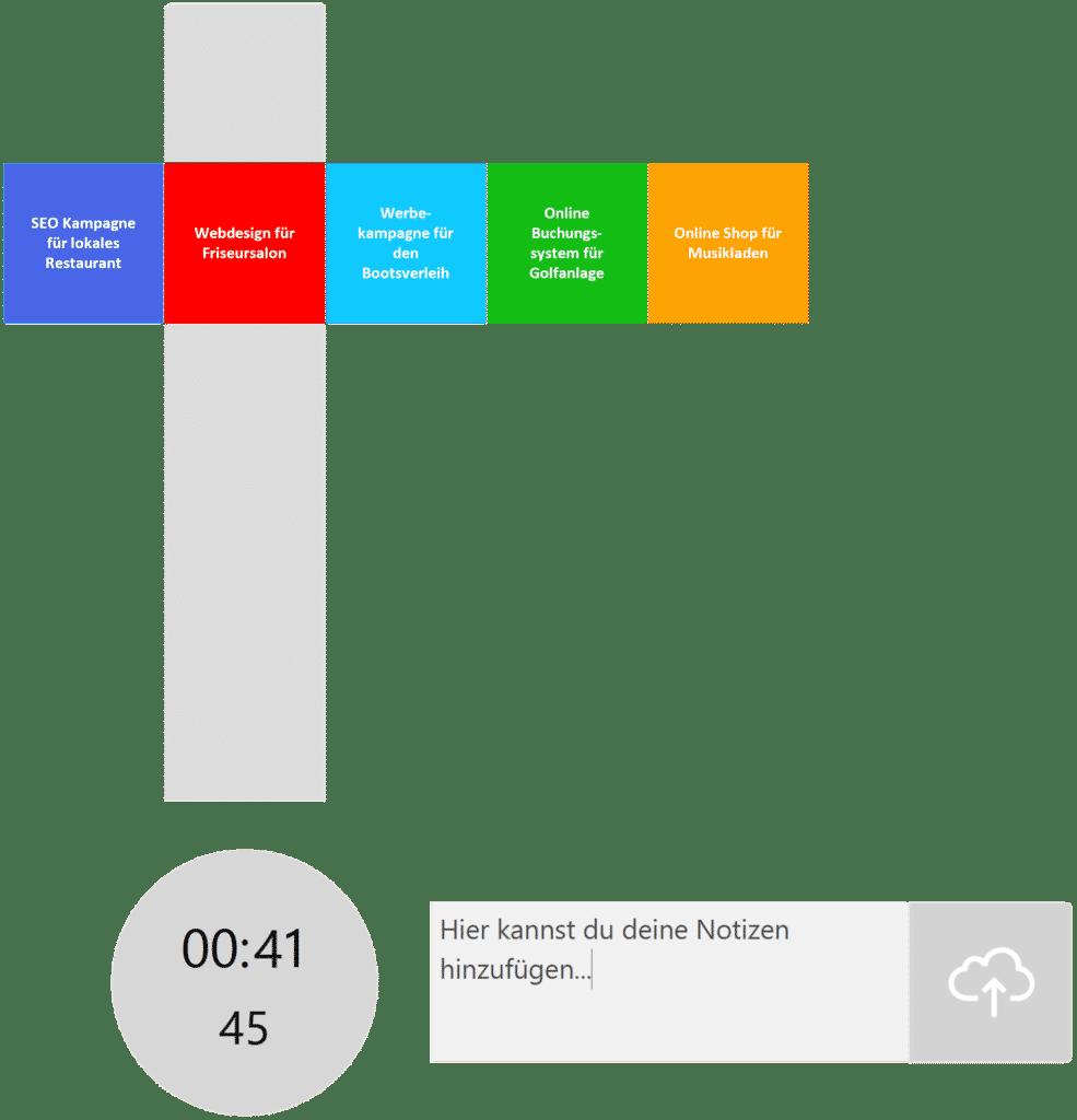 timeBuzzer Desktop App - Ebenen für Freelancer Beispiel