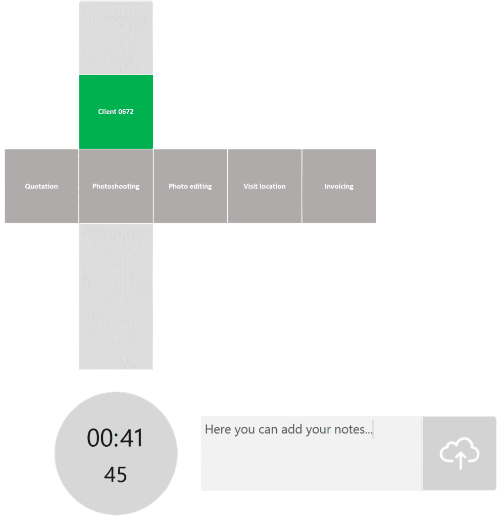 timeBuzzer desktop app - layer example for photographers
