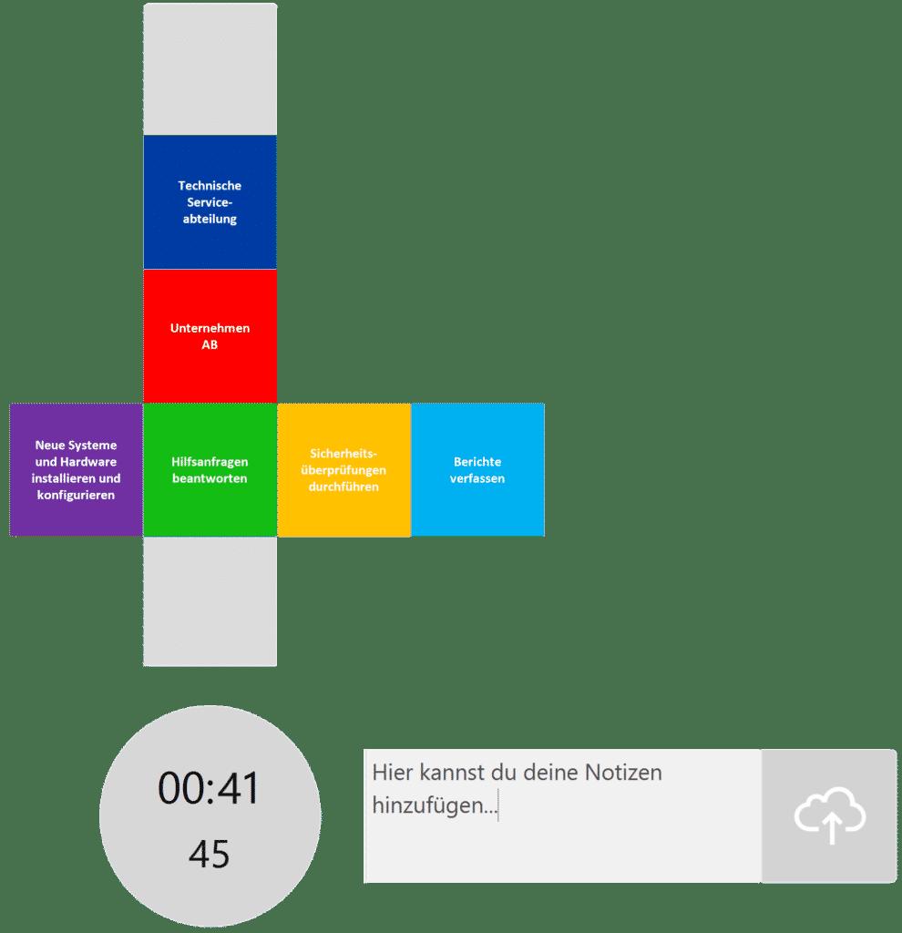 timeBuzzer Desktop App - Ebenen für Unternehmen und Betriebe Beispiel