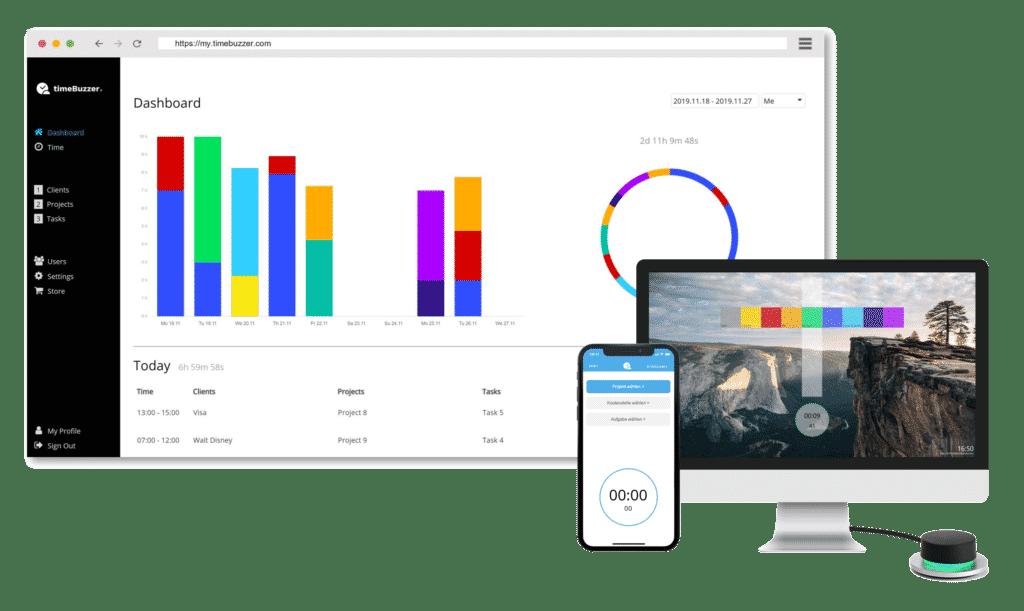 Online Zeiterfassung per webbasierter Cloud & Apps