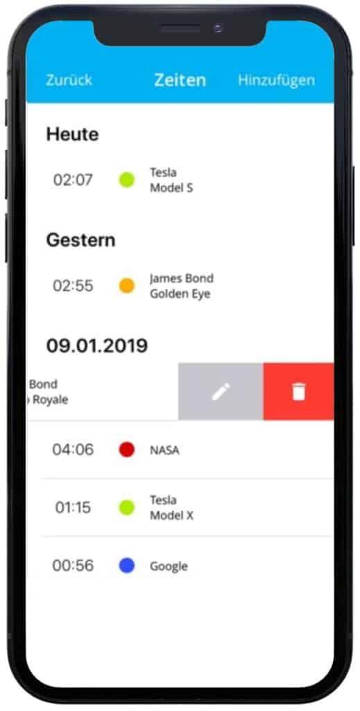 timeBuzzer - iOS mockup